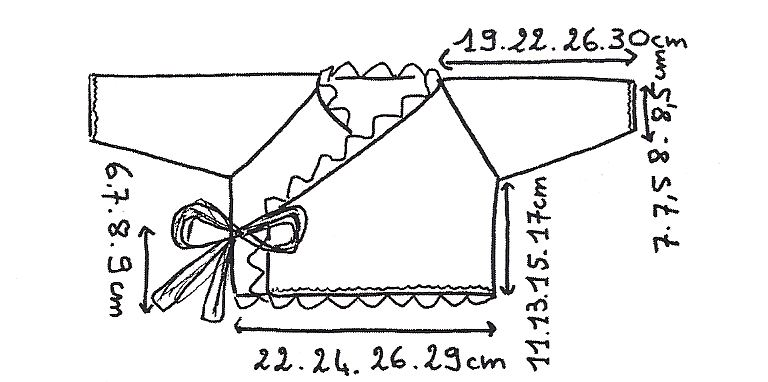 Famoso Rosa sexy -coprifasce e culotte misure 3-6-12 mesi ferri 2,5 e 3,5  EY62