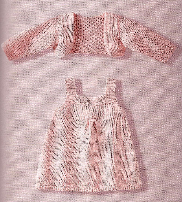 Easy Knit Dress Pattern : BEBE  ESTATE FEMMINA da 3 a 24 mesi   La Maglia di Marica