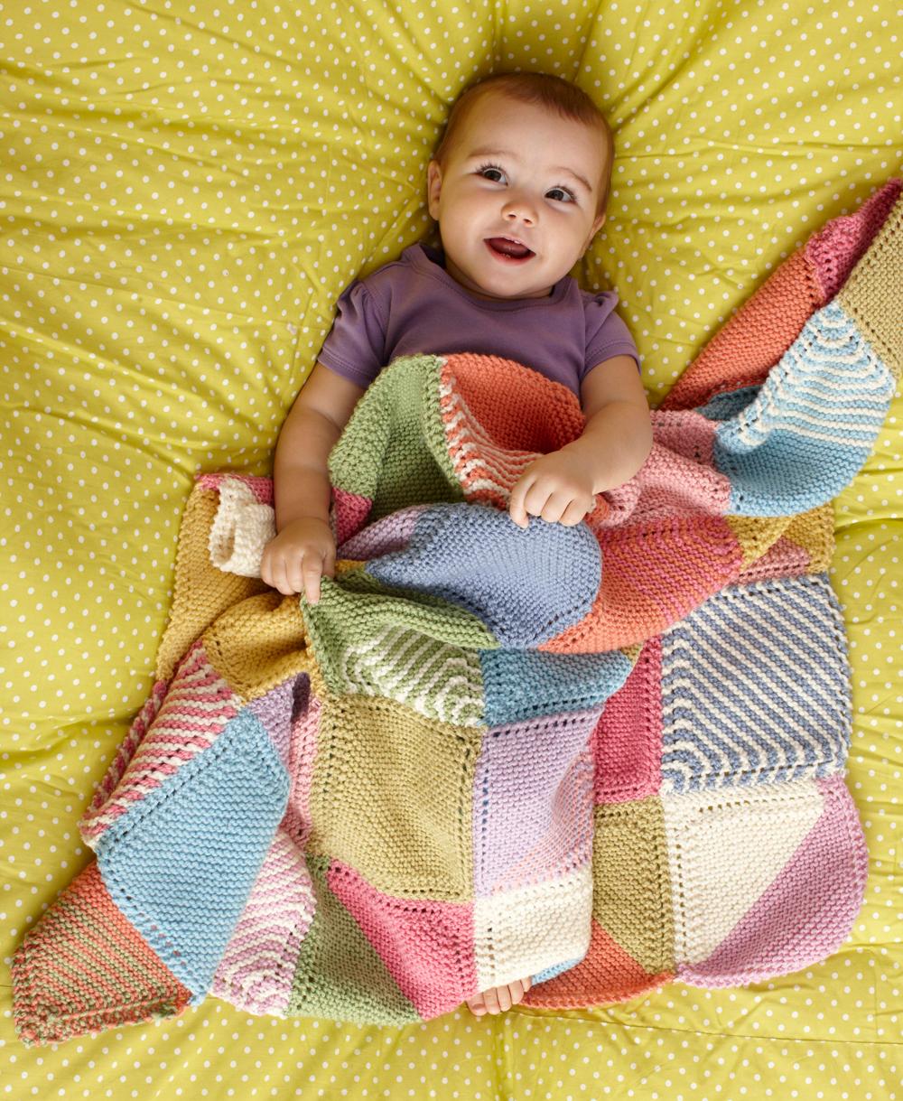 Plaid Fatto Ai Ferri patchwork | la maglia di marica
