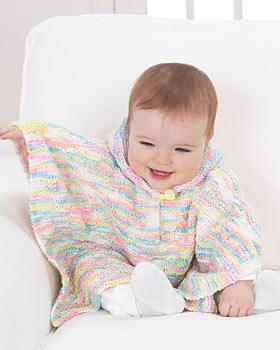 Knitting Pattern Baby Poncho : -PONCHO-FOTO La Maglia di Marica