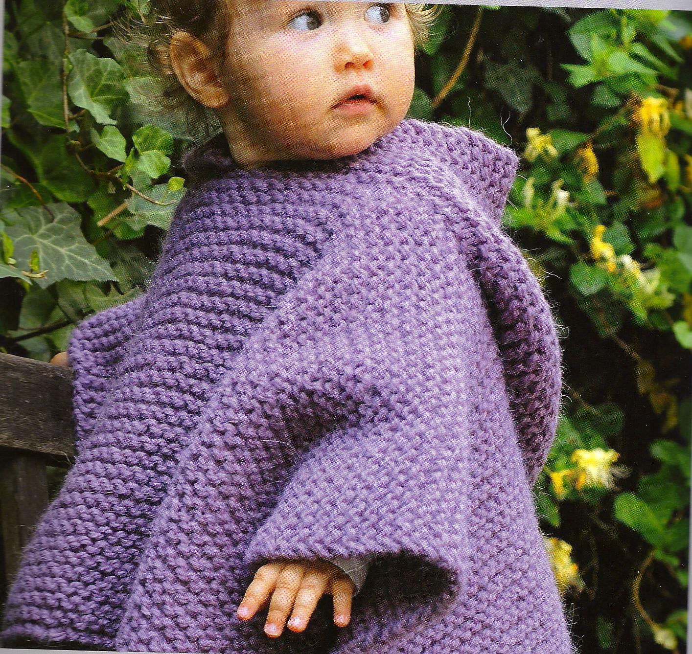 Poncho legaccio 6 12 18 mesi 2 anni la maglia di marica - Punto a punto per i bambini di 3 anni ...