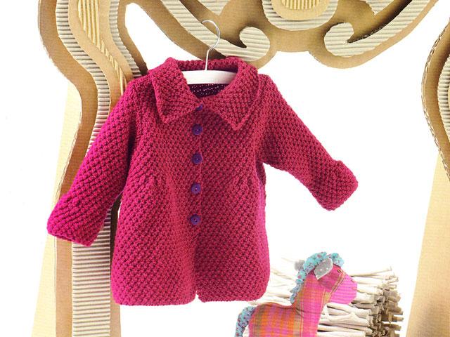 Top Cappottino rosso – misure 3-6-12-18-24 mesi -ferri 4,5 | La Maglia  UK69
