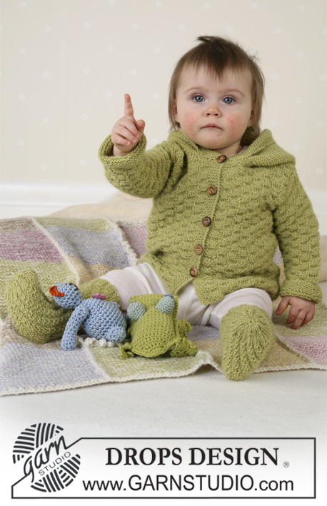 haki yeşili bebek hırkası örneği