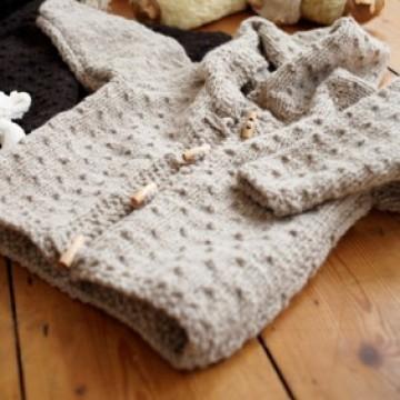 Chunky Baby Knitting Patterns Free : CARDI CAPPUCCIO PUNTO SEME BORDI RISO ALAMARI La Maglia di Marica