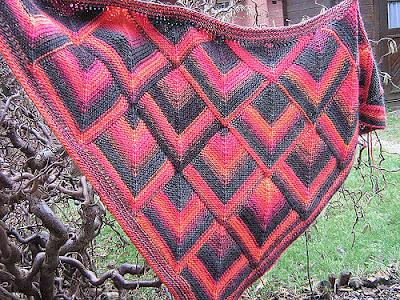38 mitered shawl 2