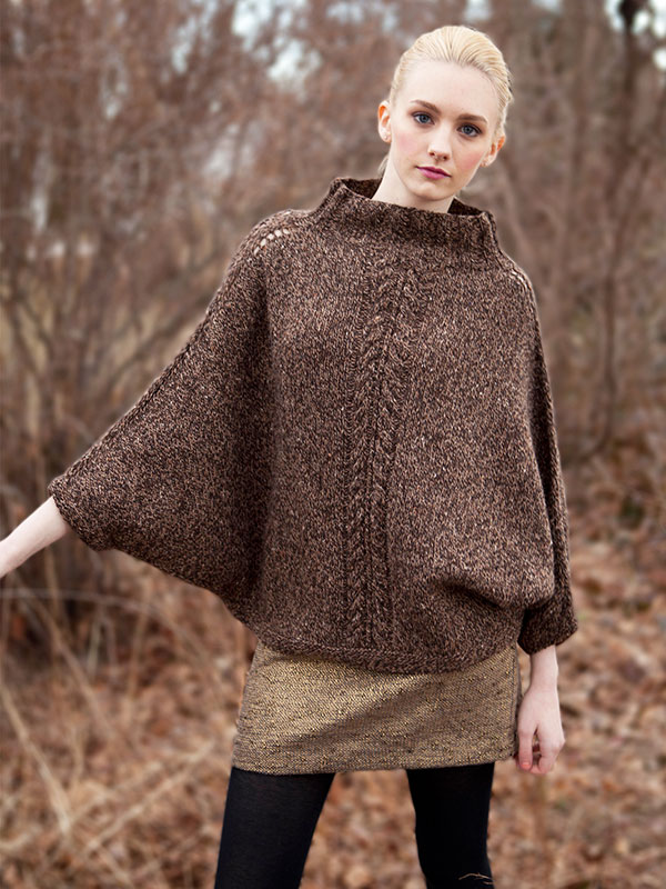 Knitting Pattern For Cape With Sleeves : RAGAZZE(mamme, zie, nonne..): il poncho-pull.. ferri 4,5 e 3,75 tante misure....