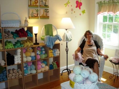 DSC04165 Sue in the baby yarn room R
