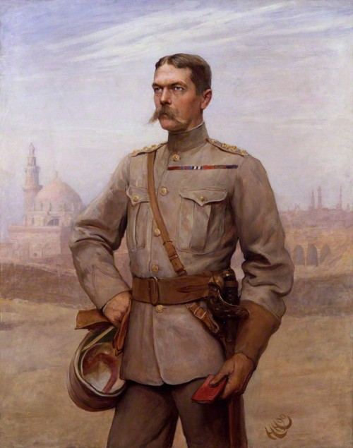 NPG 1782; Horatio Herbert Kitchener, 1st Earl Kitchener of Khartoum by Sir Hubert von Herkomer, and  Frederick Goodall