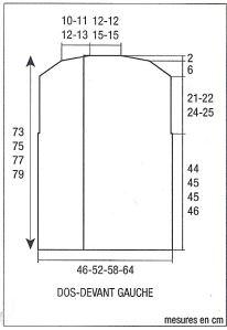 lungo gilet tricoteque schema trecce-1