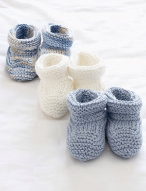 Knitting Patterns For Baby Booties Beginner : scarpine neonato La Maglia di Marica