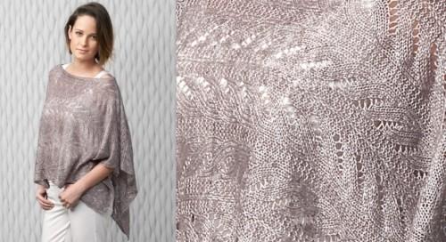 Una cappetta delicata elegante la maglia di marica - Explication pour tricoter un poncho femme ...