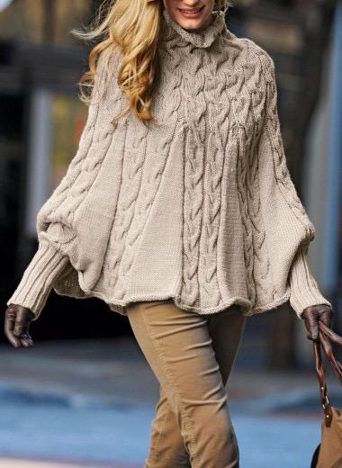 Cappa poncho la maglia di marica - Explication pour tricoter un poncho femme ...